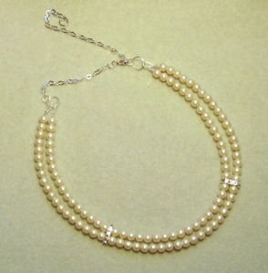 Two-stranded pearl necklace made by Catherine Chant
