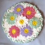 Crochet Daisy Hotpad by Catherine Chant