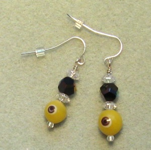 "Beaded ""Caterpillar Eye"" Earrings by Catherine Chant"
