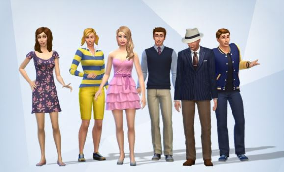 The cast from Wishing You Were Here by Catherine Chant as Sims in The Sims 4 gang