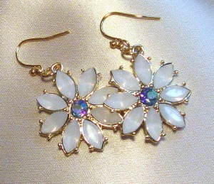 Daisy Earrings, handmade by Catherine Chant