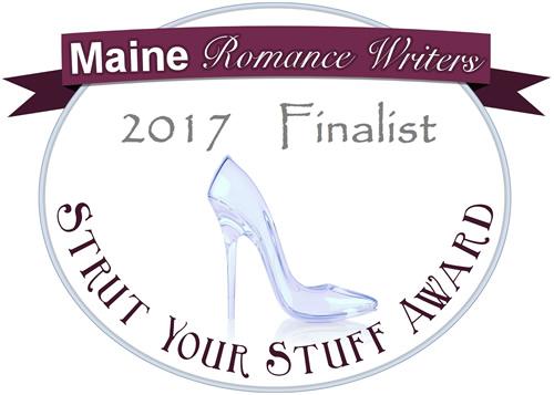 "Maine Romance Writers ""Strut Your Stuff"" contest finalist badge"