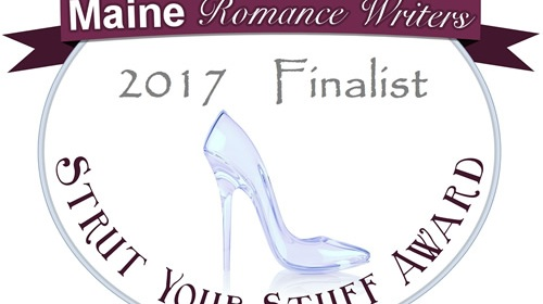 "Maine Romance Writers ""Strut Your Stuff"" contest finalist badge"