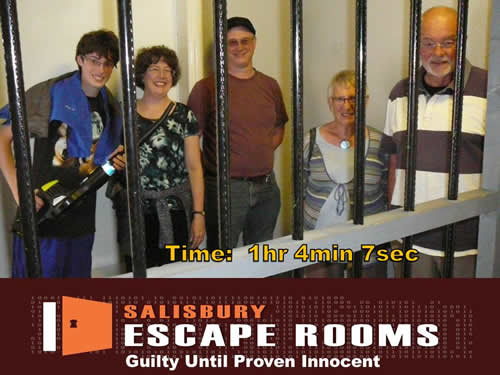 Escape teh Room Salisbury Team Photo
