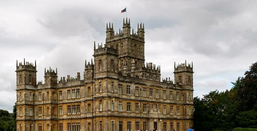 Highclere castle front entrance