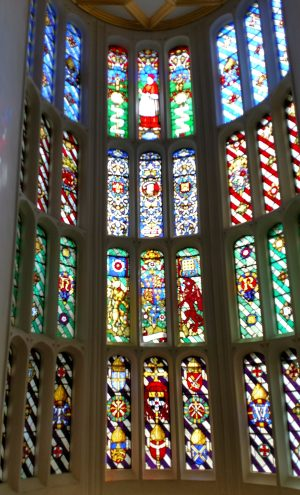 Stained glass windows at Hampton Court Palace