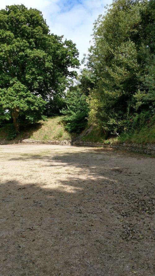 Silchester romance city amphitheater ruins
