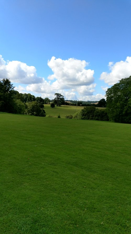 Green lush English countryside - view from Highclere