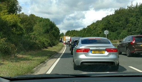 Queue on the Road to Stonehenge